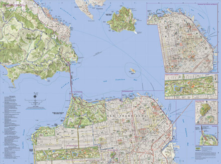 A walking map of SF