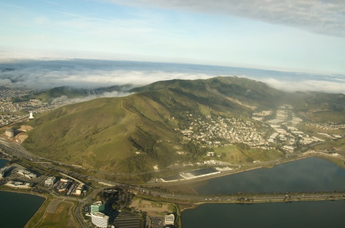 San Bruno Mountain from the air